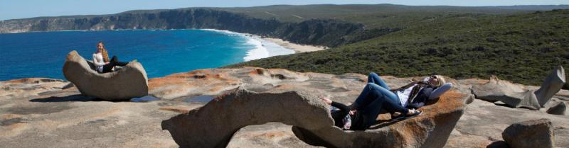Soaking up the views on Kangaroo Island