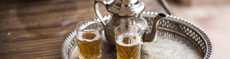 Fresh mint tea, Morocco