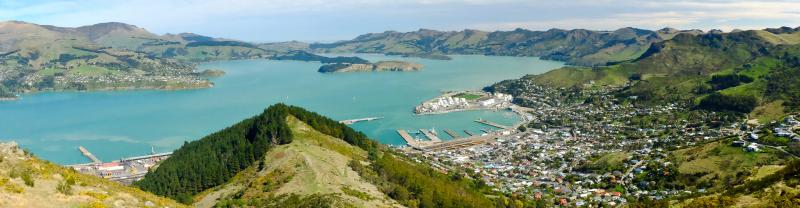 A panoramic view of Christchurch