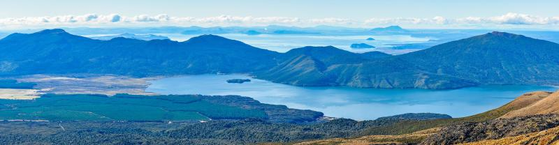 Lake Taupo in New Zealand