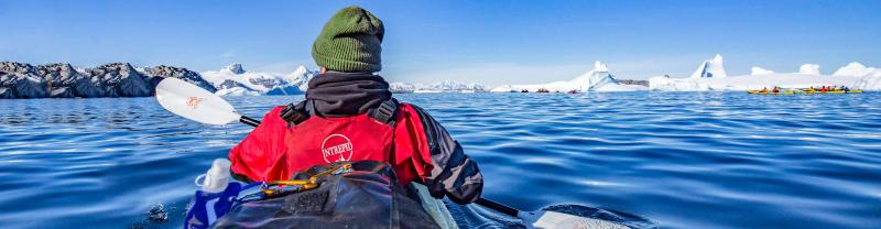Kayaking in Antarctica with Intrepid Travel Polar cruises