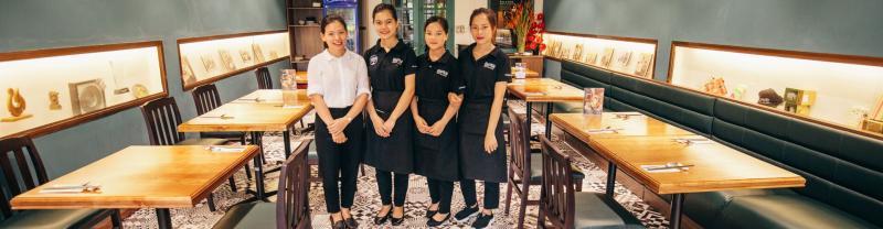 A restaurant in Hanoi, Vietnam