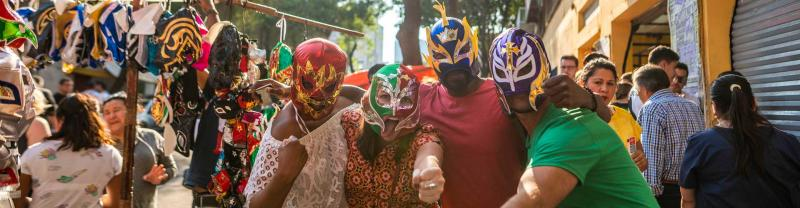 Lucha libre masks in Mexico