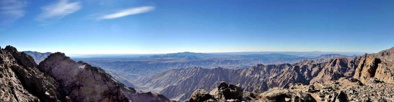 Toubkal National Park mountain range, High Atlas Mountains