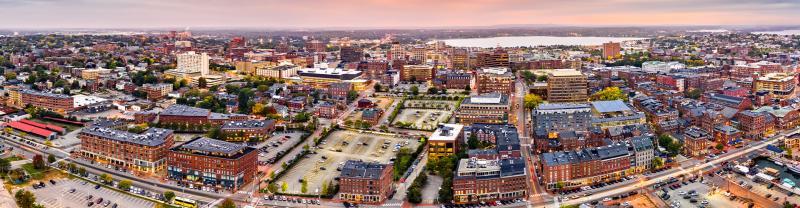 Aerial view of Portland, Maine.