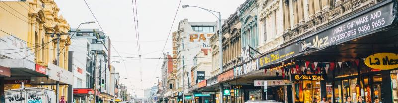 Melbourne's colourful Collingwood neighbourhood shops