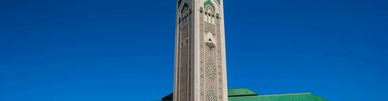 Beautiful Minaret tower in Casablanca
