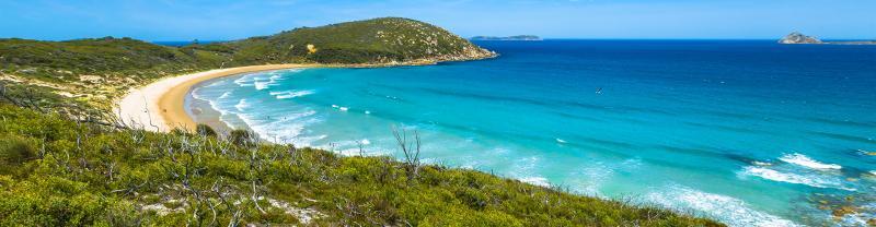 Wilson's Promotory bright blue beaches