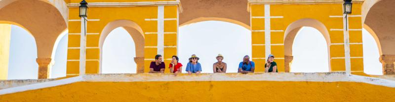 Passengers exploring in Izamal, Mexico