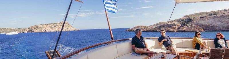 Sailing on the coast of Greece