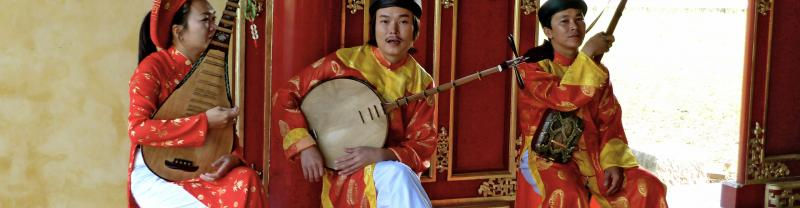 Festivals in Vietnam often feature local string instruments