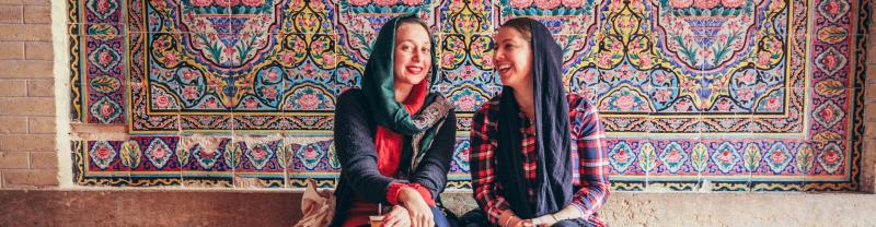 Two women in Iran