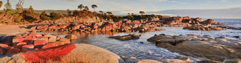 Bay of Fire in Tasmania on a Tasmania tour with Intrepid