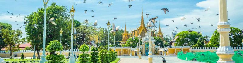 Architecture of Royal palace pavilion, phnom penh, Cambodia