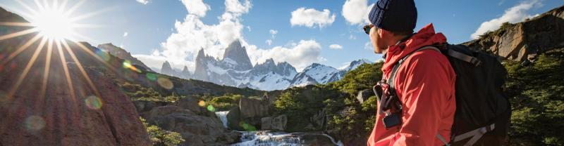 Savouring the sunrise in Patagonia.