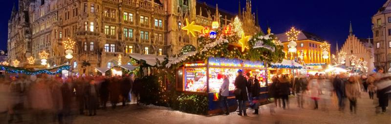 Munich Christmas Market at night