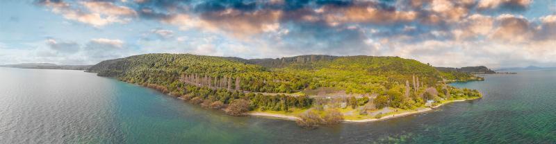Lake Taupo aerial view