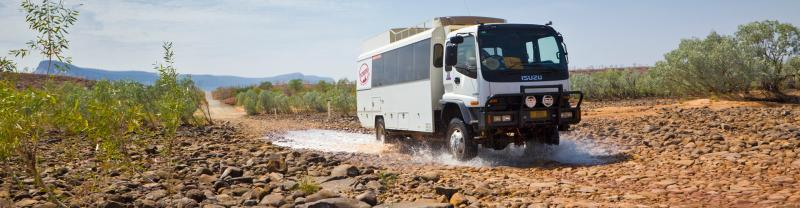 Overland truck in the Kimberley
