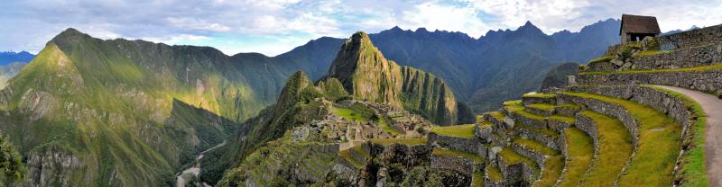 Panoramic view of Machu Picchu, Peru