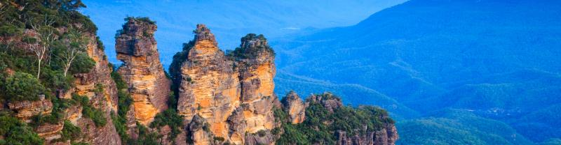 The three sisters from Echo Point in the Blue Mountains, NSW