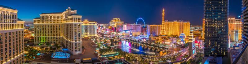 Las Vegas skyline at twilight