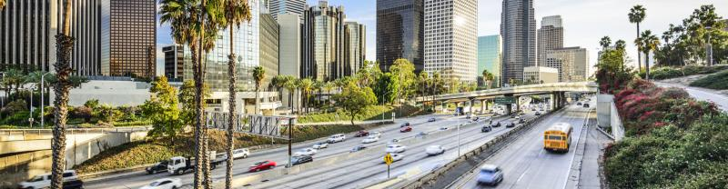 A freeway in Los Angeles in California