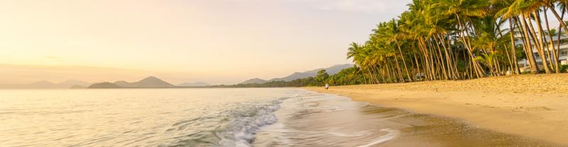 The beach at Palm Cove in Cairns, Queensland