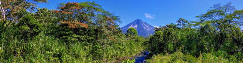 Arenal volcano on a sunny day, Costa Rica