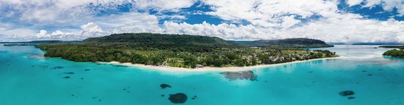 Port Orly beach on the island of Espiritu in Vanuatu