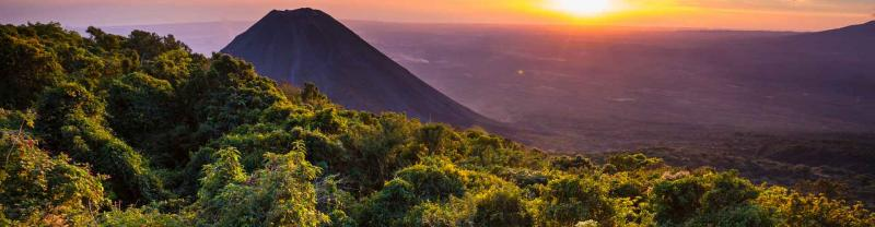Sunset at Cerro Verde National Park in El Salvador