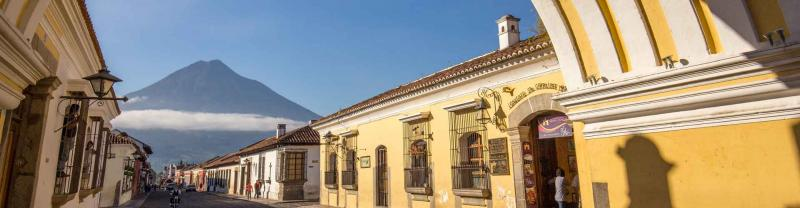Yellow house hotel, Antigua, Guatemala