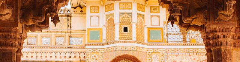 Intricate detail of Jaipur in India