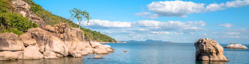 Otter point at Cape Maclear, Malawi