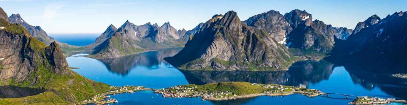 Mountainous range of the Lofoten islands