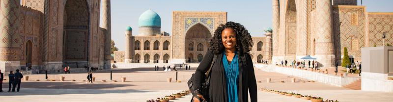 Samarkand Registan Square in Uzbekistan with Intrepid Travel