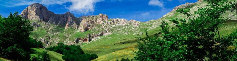 The stunning mountain range of backlands of Shkoder, Albania