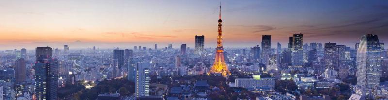 Sun setting on Tokyo Tower, Tokyo