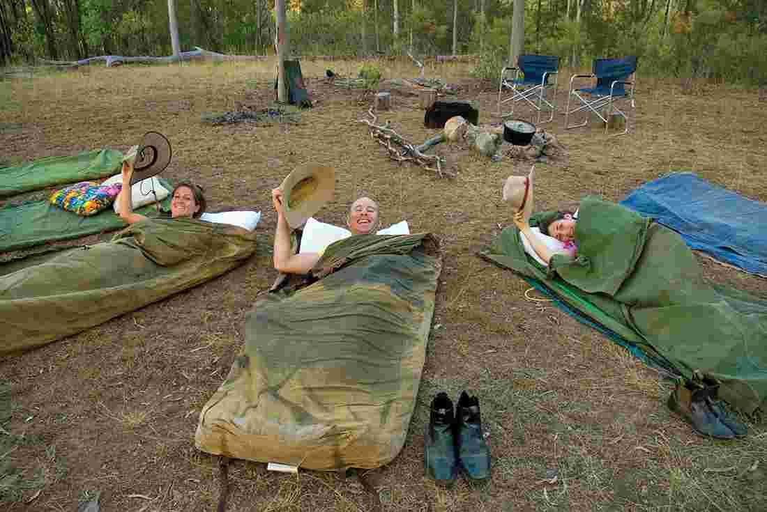 In swags on a Queensland farmstay & Overland tours | Overland tours