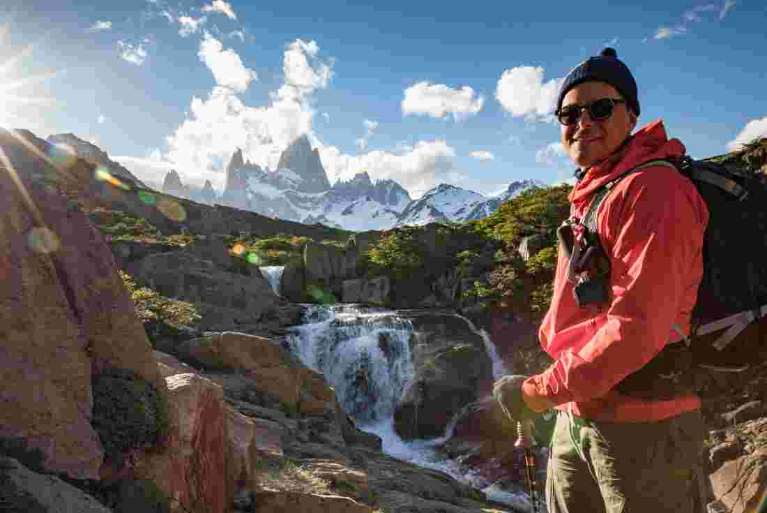 Taking on the high passes of Patagonia.