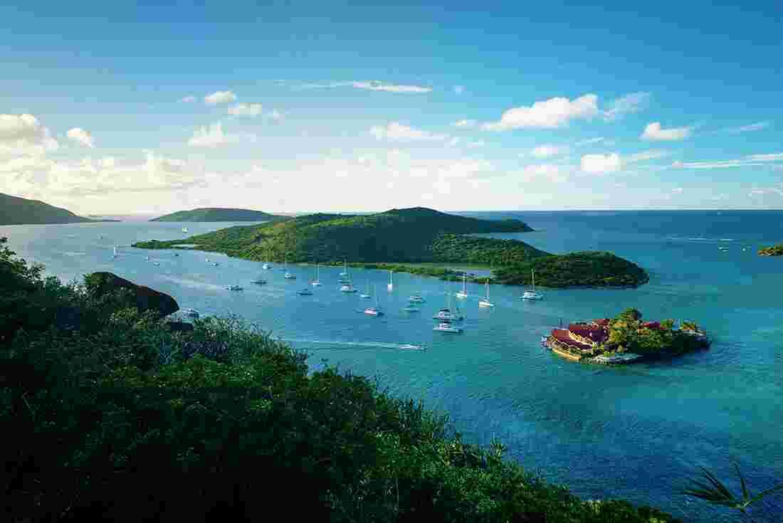 Sailing Boats In The British Virgin Islands