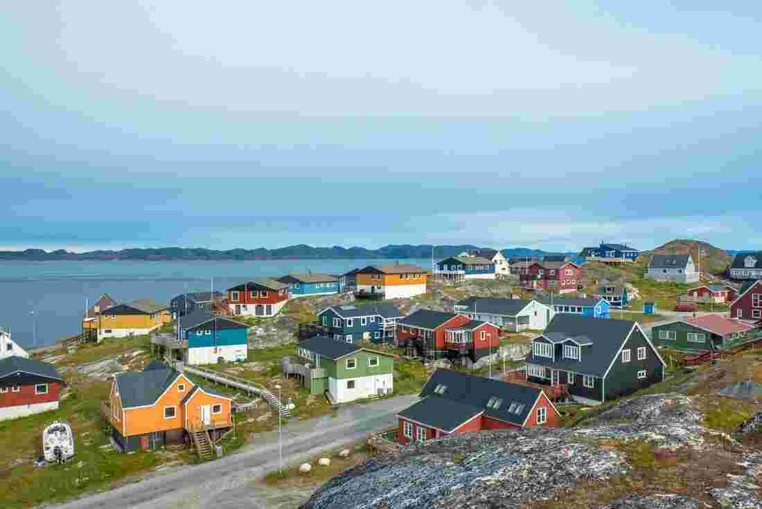 The town of Nuuk in Greenland