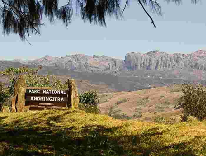 Madagascar hike bike intrepid travel gb sign for andringitra national park madagascar publicscrutiny Image collections