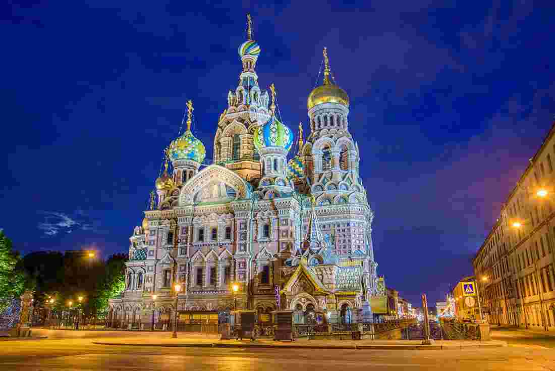 White nights exist in most parts of Russia