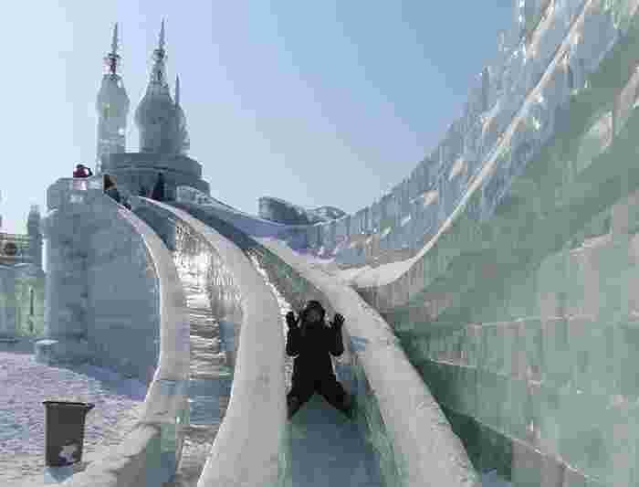 Ice Slide At Harbin Castle China