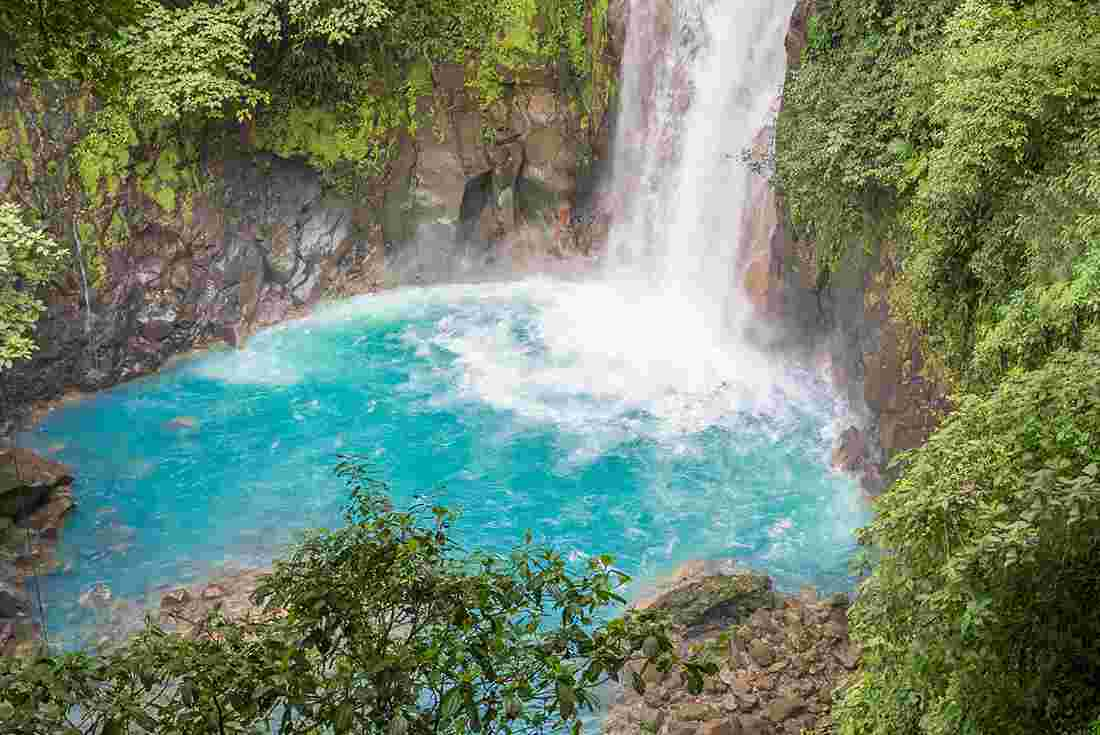 Costa Rica La Fortuna Waterfall Blue Jungle