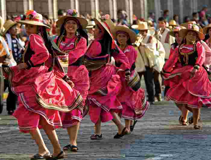 peru traditional dancers