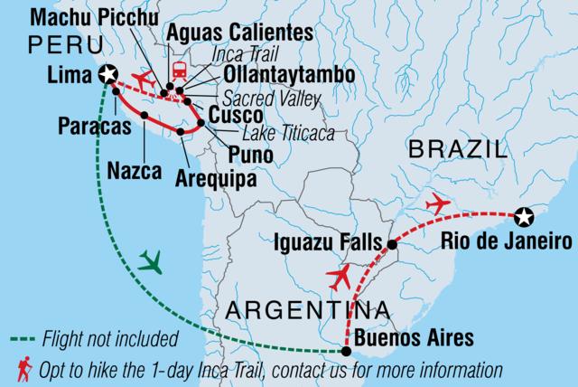 Best Of Peru Argentina Brazil