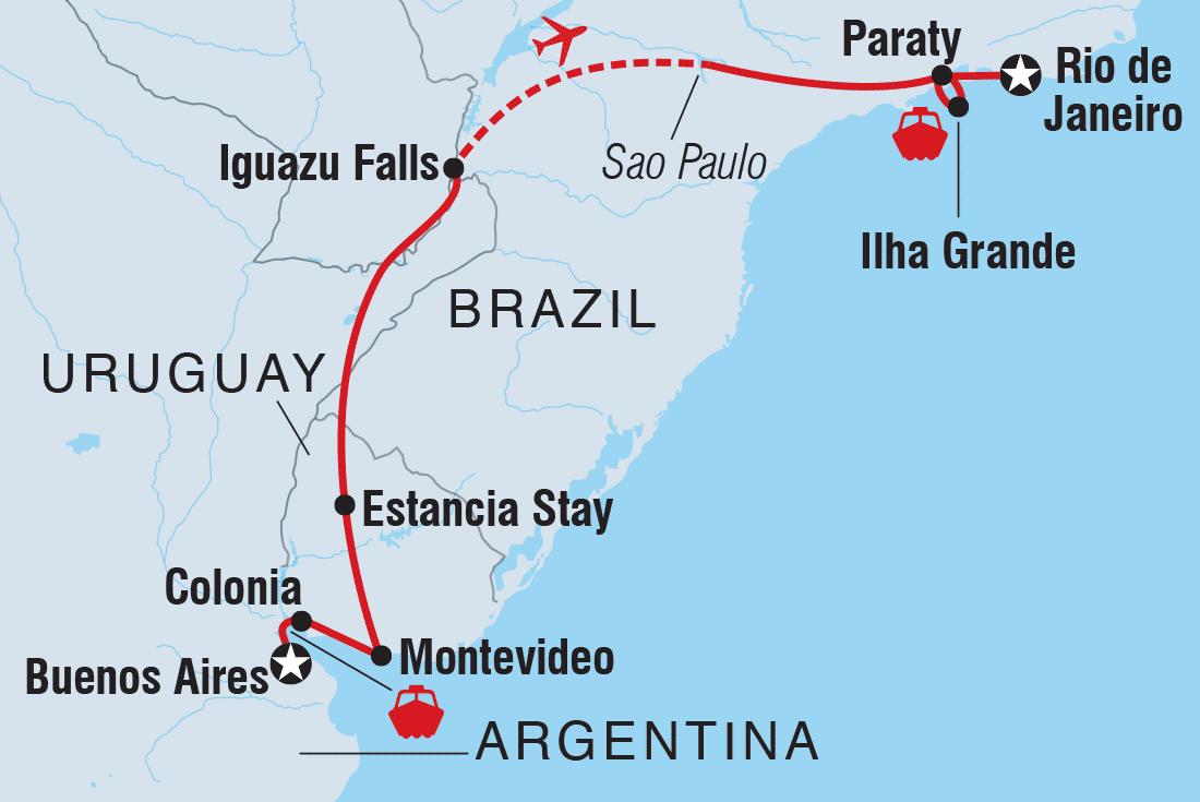 Argentina Tours Travel Intrepid Travel AU - Argentina bus map