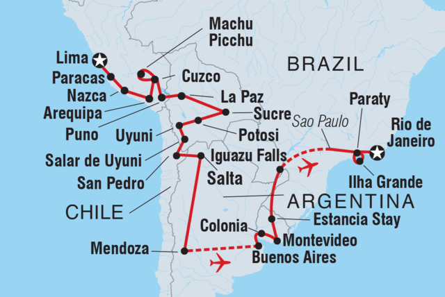 Argentina Tours Travel Intrepid Travel US - Argentina bus map
