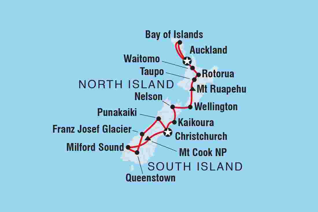 Map North Island Of New Zealand.Best New Zealand Tours Trips Intrepid Travel Us